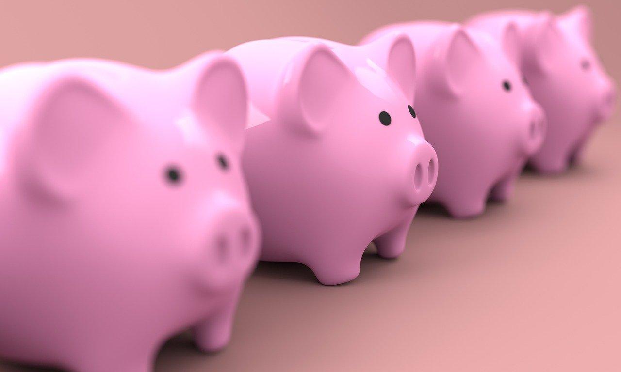 Piggybanks in a row